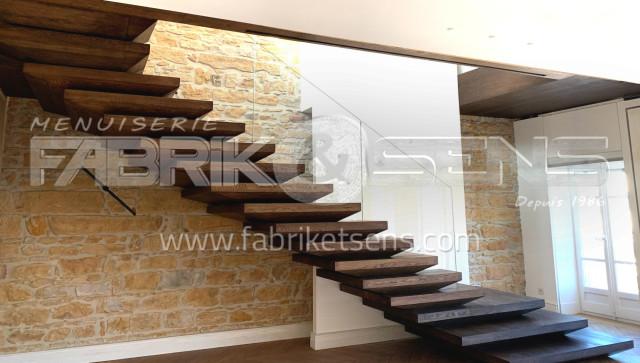 Escalier Bois Sur Mesure Etude Fabrication Et