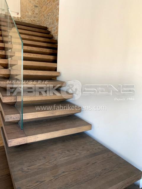 Escalier bois sur mesure - Etude, fabrication et ...